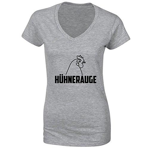 Huhnerauge Damen V-neck T-shirt
