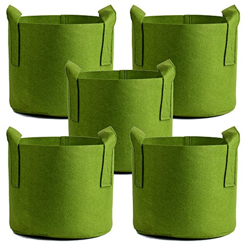 Ming Wei Grow Bags (3 Gallon, Army green 5-Pack) by Ming Wei