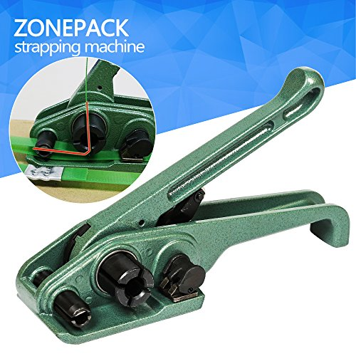 ZONEPACK Heavy Duty Tensioner Cutter Cord Strapping Machine Packing Tools for PET and PP Strap Size: 3/8