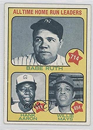 Amazoncom Babe Ruth Hank Aaron Willie Mays Baseball