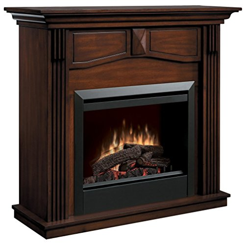 Dimplex Holbrook DFP4765BW Traditional Electric Fireplace Mantle with 23-Inch Firebox, Burnished images