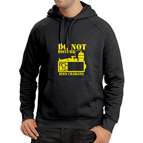 lepni.me N4222H Hoodie Beer Charging (Large Black Yellow)