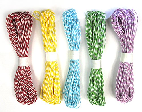 ALL in ONE 5 Color 135 Yards Twisted Paper Craft String/Cord/Rope