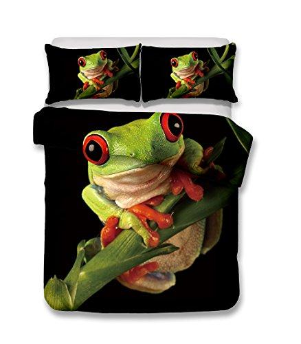 3d juego de cama ropa de cama de rana impresión individual, Queen, king, Super King ropa de cama funda de edredón juego de...