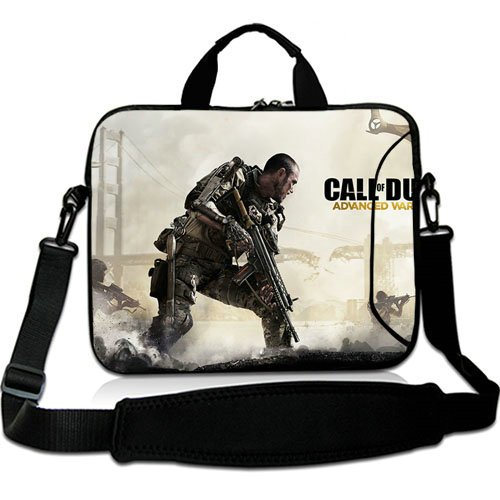 New Custom 17 Inch Adjust Shoulder Laptop Carrying Bag With Call Of Duty Advanced Warfare Voin Oruzhie Neoprene Laptop Sleeve for 17 17.3 Inch Laptop Bag(Twin Sides) (Call Of Duty Laptop Skin)