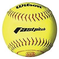 Softbol Serie Wilson A9231ASA (paquete de 12), 11 pulgadas, amarillo óptico