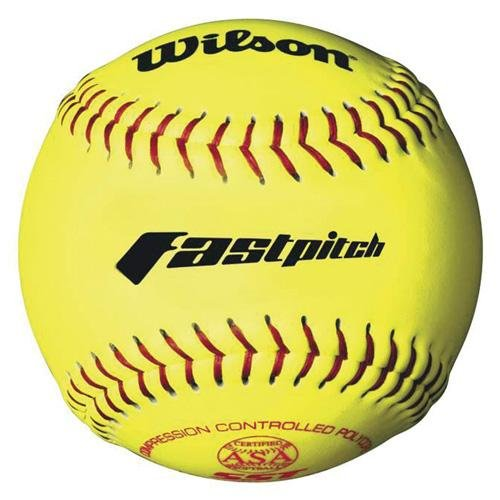 Wilson A9231ASA Series Softball (12-Pack), 11-Inch, Optic Yellow by Wilson