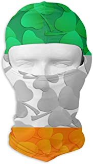 Xukmefat Irish Flag with Shamrocks Balaclava UV Protection Windproof Ski Face Masks for Cycling Outdoor Sports Full Face Mask Breathable New6