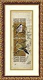 Framed Art Print 'Bird Pair from India I' by Ramesh Sharma