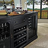 Siena Wine Credenza -Nero with Two 28 Bottle Touchscreen Wine Refrigerators