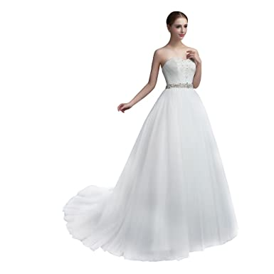 947bdbc9bda COLOREDRESS Sweetheart A-Line Wedding Dress Bridal Gown at Amazon ...