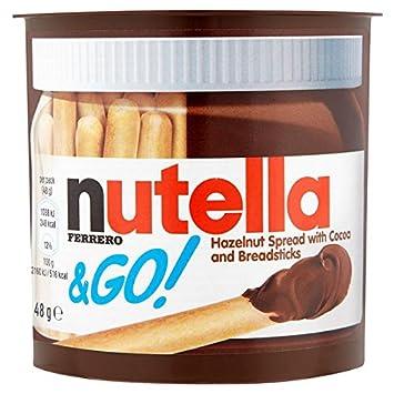 Nutella Ferrero & Go. Untar con Cocoa y gressins 48 g (Paquete de 12