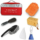 Kyпить Car Cleaning Kit 6PCS with Car Washing Sponges/ Waterproof Car Mitts/ Auto Wheel Brush/ Microfiber Dust Cleaner/ Car Brush broom/ Car DustPan Packed Full in FIRSTWAY Storage Bag на Amazon.com