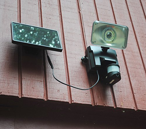 Outdoor Motion Sensor Security Lights Camera: MAXSA Solar Powered Wireless Outdoor Video Security Camera
