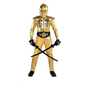 Boys Gold Fighter Ninja Costume - X-Large (14-16)   2 Ct.