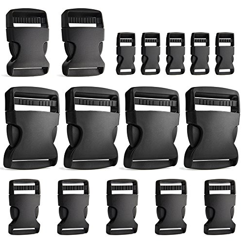 Coopay 16 Pieces 4 Szies Buckle Adjustable Buckles Plastic S