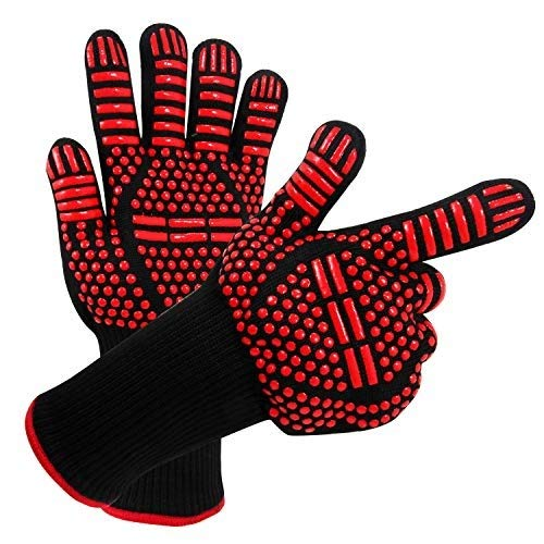 AINIYF Professional Heat Resistant Gloves, Fire Proof Mittens with Forearm Protection,Gloves 1472°F Degree Heat Resistance for Grilling/Welding/Kitchen Cooking/Oven/BBQ, 1 Pair by AINIYF (Image #7)