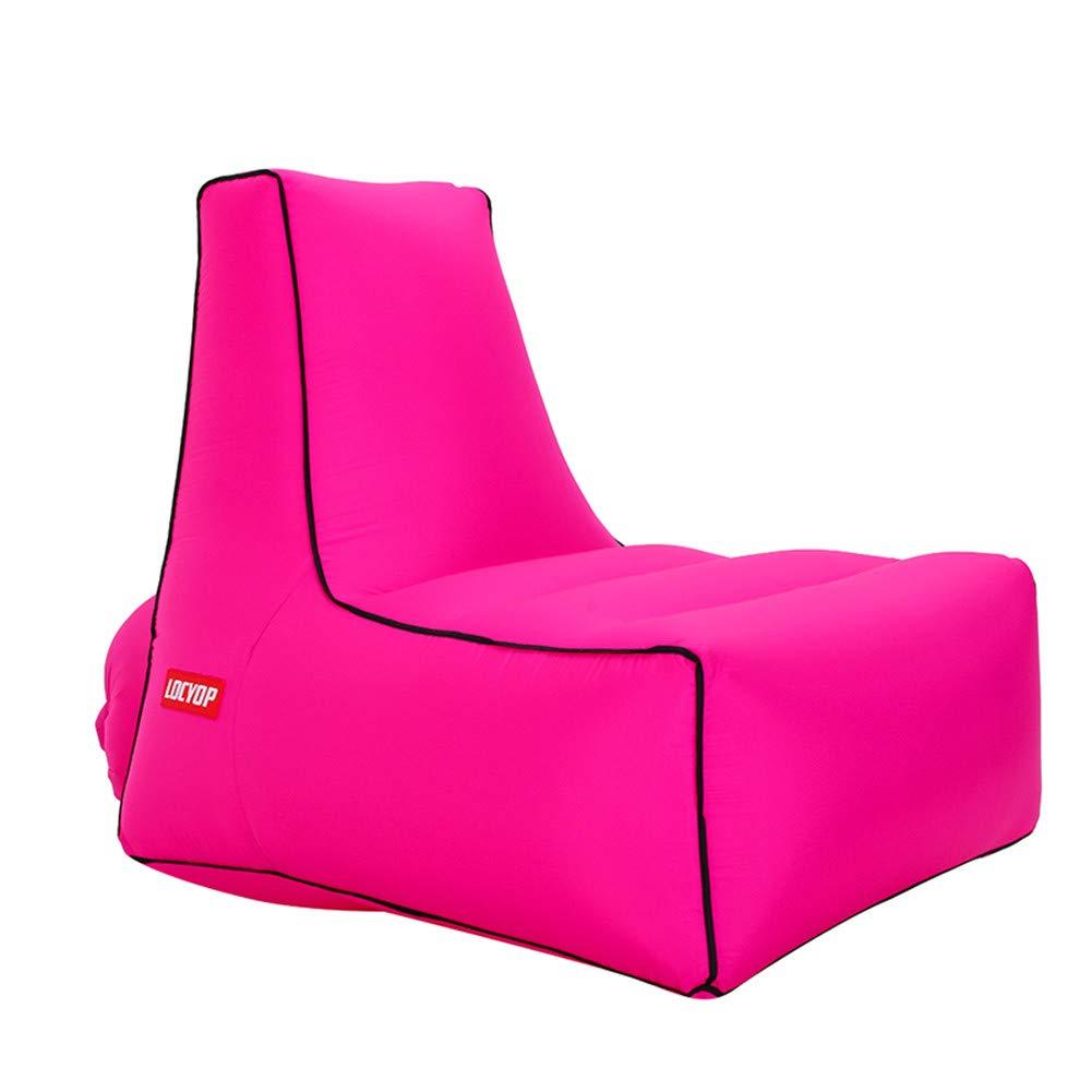 Roserouge grand LUCKME portable Lazy Gonflable Lounger, Premium imperméable à l'air Sofa canapé pour Camping randonnée Piscine Piscine Jardin Cour-Max Poids pour 200KG,lakevert,petit
