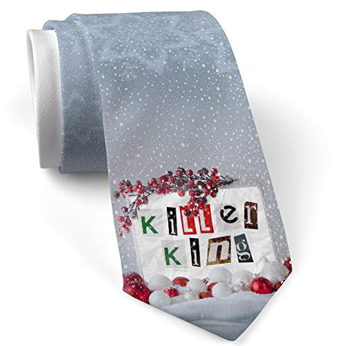 Christmas NeckTie Killer King Ransom Blackmail Letter White with Snow