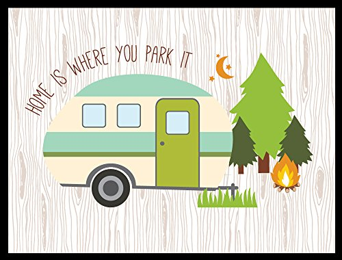 Home Is Where You Park It Door Mat made our list of Inspirational And Funny Camping Quotes