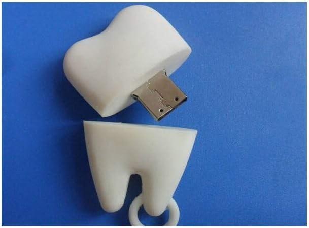 Size : 64G Computers Accessories USB 2.0 Creative Teeth Flash Drive 4G//8G//16G//32G//64G USB Pen Thumb Drive Wood Read Speed 4-20MB S-Data Storage White 10-11