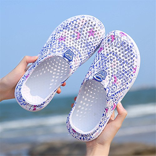 AIRAVATA Atmungsaktiv Strand Quick Sommer für Wasserschuhe Clogs Blue2773 Aquaschuhe Sports Dry Damen Leichtgewicht Rutschfest Outdoor rqHSr0wx