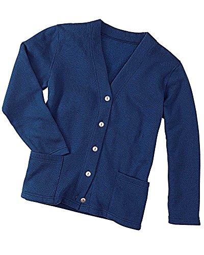 Misses Button (National Fleece Cardigan, Navy, Large)