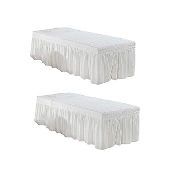 """Massage Table Skirt Sheet Pillowcase Stool Cover Beauty Linen 73x28/"""" Grey"""