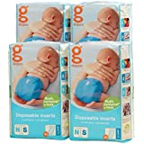 Image: gDiapers Disposable Inserts | Made without plastic sheeting | can be safely flushed down the toilet | no smell, no mess, and no dirty diapers in the house