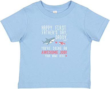 Personalised baby//childs T-shirt top 1st fathers day daddy whale pink girls gift