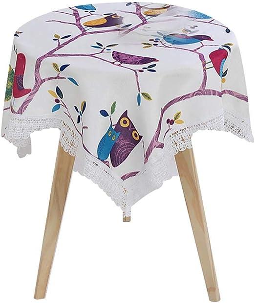 Kentop - Mantel de algodón Redondo, Decorativo, Elegante, con ...