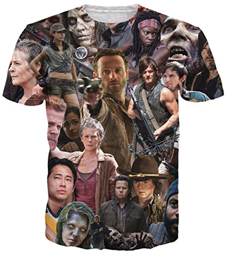 Hip Hop Dead T-shirt - Chiclook Cool Chic T-Shirt Men Women The Walking Dead 3D Clothing Tops Swag T Shirt