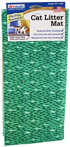 Drymate Cat Litter Mat Premium Non-Slip -Traps Litter from Box and Paws- Urine Proof Backing Protects Floors, Soft…