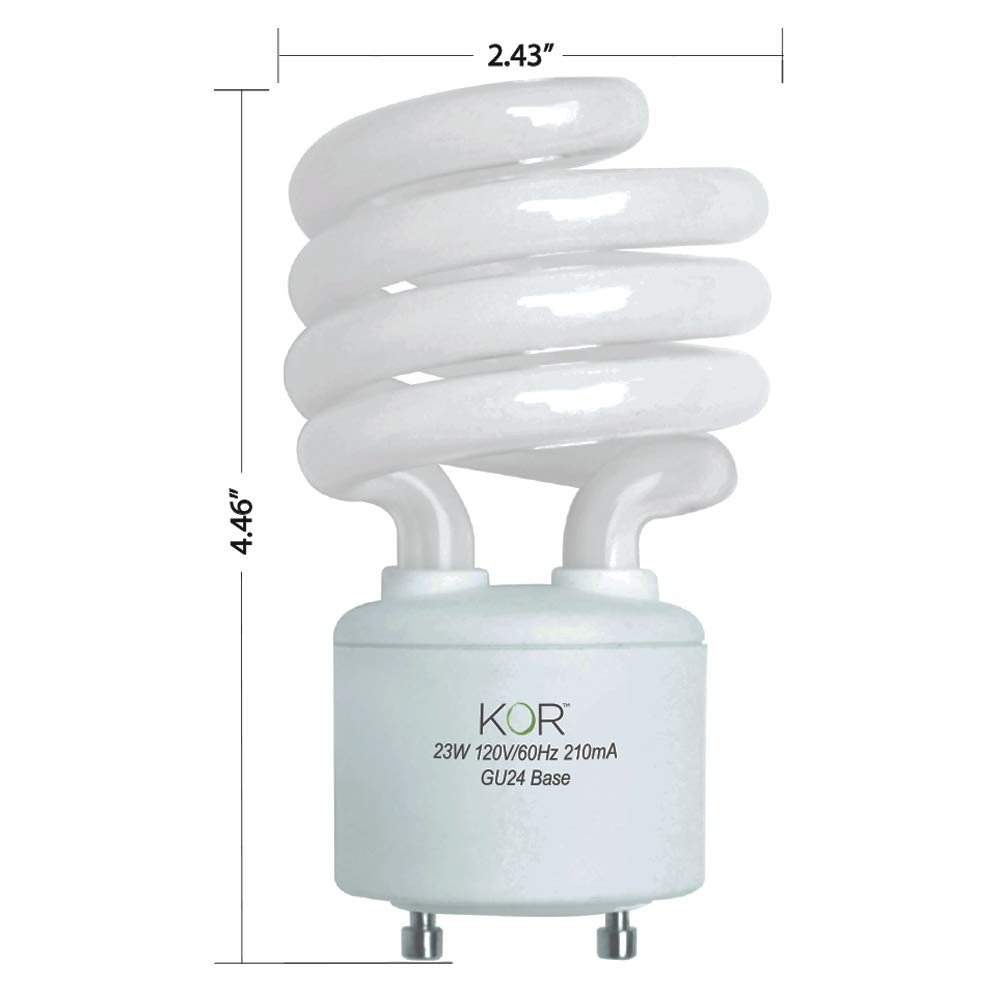 Replacing CFL GU24 Ceiling Light 1600 lumen 15W 2700K Warm White Dimmable Lights For Home With Twist /& Lock Base Omni 220 Degree Beam Angle LED GU24 A19 Light Bulbs 100 Watt Equivalent 4 Pack