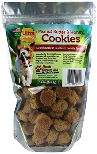 Ultra Chewy 00125-3 Peanut Butter and Honey Flavored Cookies, (Flavored Dog Treat Cookies)