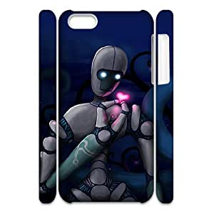 3D Dustin Robot Love IPhone 5C Cases, [White]