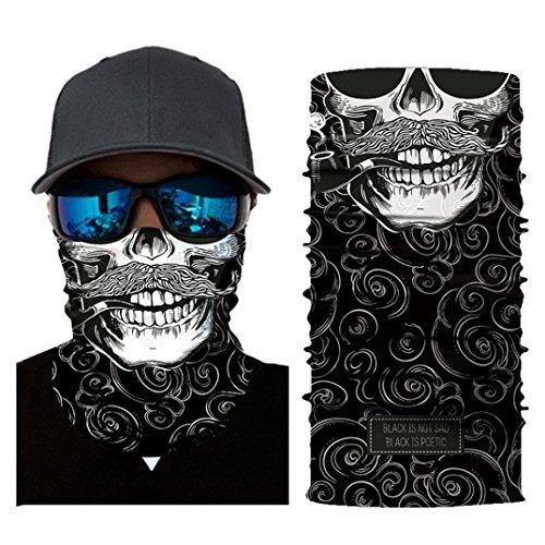 Cheap Chartsea Men Women Headwear, Skull Face Mask, Magic Scarf, Neck Gaiter, Bandana, Balaclava, Headband for Cycling, Motorcycling, Running, Skateboarding, Moisture Wicking UV Protection (B)