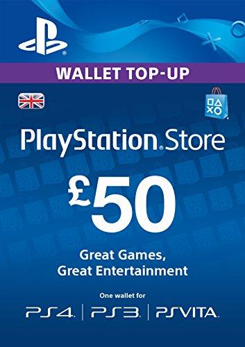 PlayStation PSN Card 50 GBP Wallet Top Up   PSN Download Code - UK account