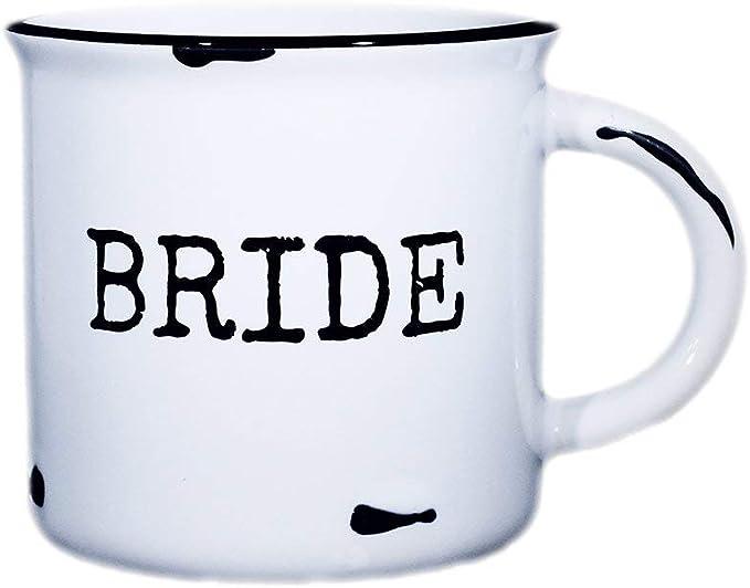 15 oz Campfire Mug Mother of Bride Mug Typewriter font, White SassyCups