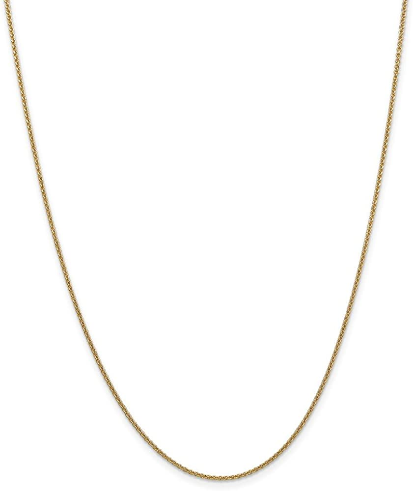 14k 1.5mm Cable Chain