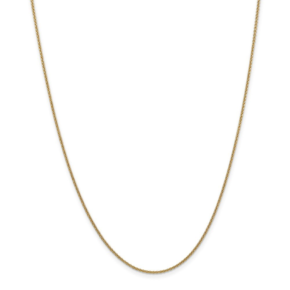 14K Yellow Gold 1.5mm Cable Necklace Chain Anklet Bracelet -9'' (9in x 1.5mm)