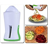 Vegetable Spiralizer, Zucchini Spaghetti Pasta Noodle Maker Spiral Veggies Slicer for Potato Carrot with Three Steel Blades Kitchen Tool