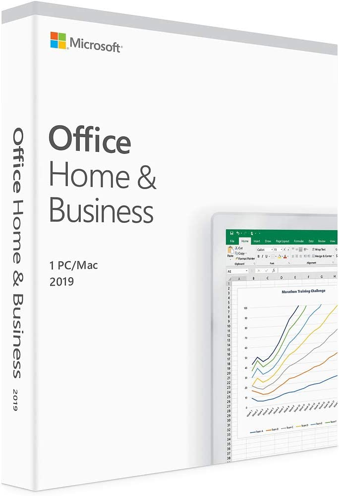 Microsoft Office 2019 Home & Business - License - 1 PC/Mac, 1 Device - Download - All Languages - Intel-based Mac, PC