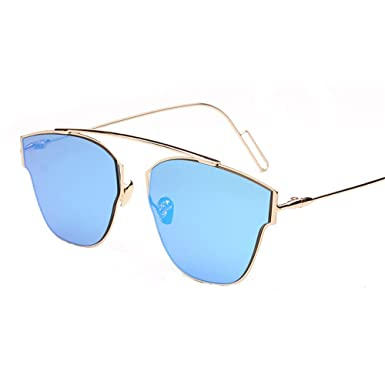 Unisex Mode Retro Outdoor AC-Objektiv UV400 Aviator Sonnenbrille Brillen,Weiß
