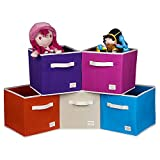 Uberlyfe Kids Toy Storage Box for anything and everything - 5pc Cubies Combo ,Multicolor