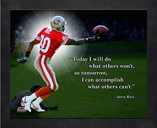 "Jerry Rice San Francisco 49ers ProQuotes Photo (Size: 12"" x 15"") Framed"
