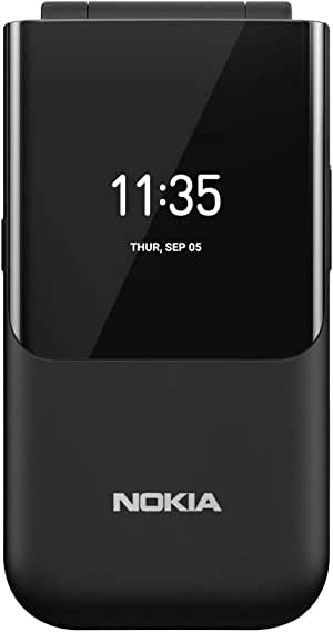 NOKIA 2720 (Flip) Feature Phone, Dual SIM, 2MP Camera with LED flash, 4G LTE - Black