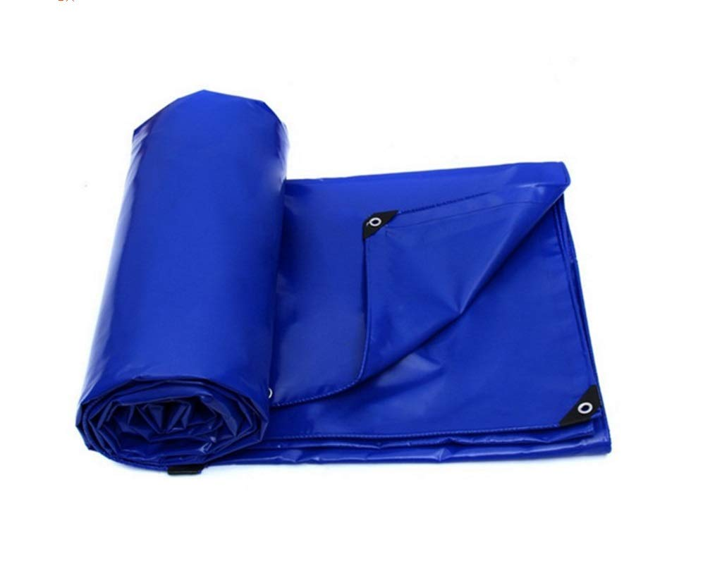 QQHWDT LYX® Messer Scraping Tuch, PVC-Tuch Effiziente Wasserdichte Super-Pull Besteändig gegen Freezing Open Air Cover Regenschutz Tuch Plane Blau Sunscreen