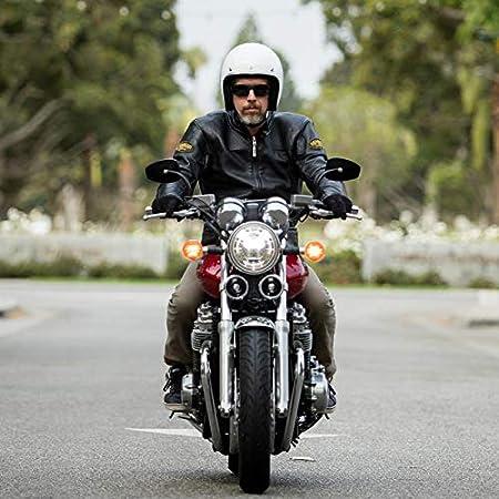 Casco Jet Aperto Bonanza Biltwell Gloss White Bianco Lucido Approvato DOT Helmet Biker Look Stile Universale x Genere Custom Vintage Retr/ò Anni 70 Off-Road Street Taglia M