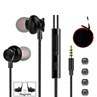 Wired in Ear Headphones, Earbuds, Full Metal Earphones with Mic and Volume Control, High Definition, Noise Isolating, Deep Bass, Ergonomic Design & Crystal Clear Sound (3.5mm Jack)
